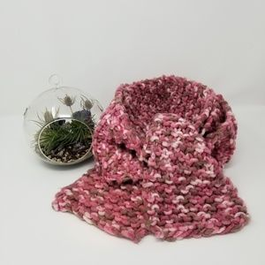 ❄☃️Pink marl homemade thick cozy scarf